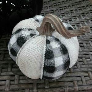 Farmhouse Decor Buffalo Check Small Pumpkin